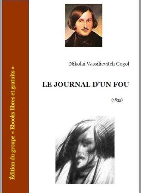 """Gogol, """"Le journal d'un fou"""", Ed. Ebooks gratuits (capture)."""