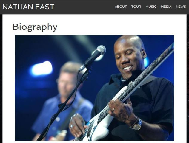 (Capture d'écran du site officiel de Nathan East.)
