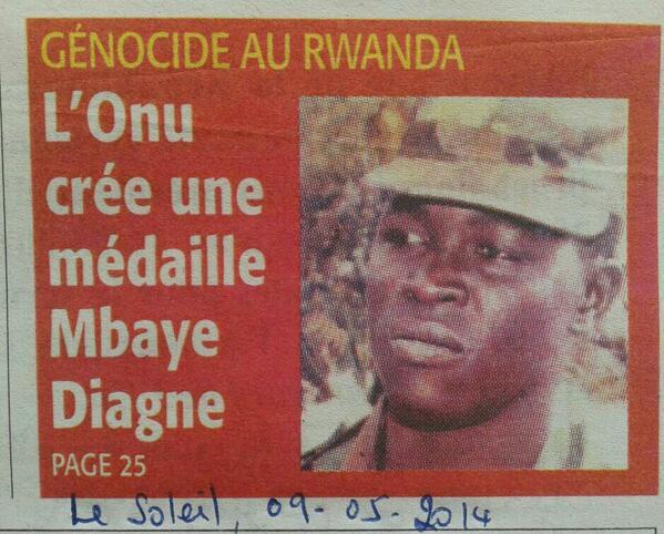 Une du quotidien sénégalais Le Soleil du 9 mai 2014. (Photo : Coumba Sylla)