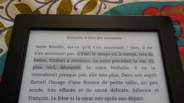 "Extrait de ""Murambi, le livre des ossements"", de Boubacar Boris Diop. (Photo : Coumba Sylla)"