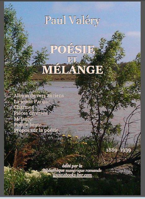 """Paul Valéry, """"Poésie et Mélange"""", Ed. BNR (Capture d'écran de la couverture.)"""