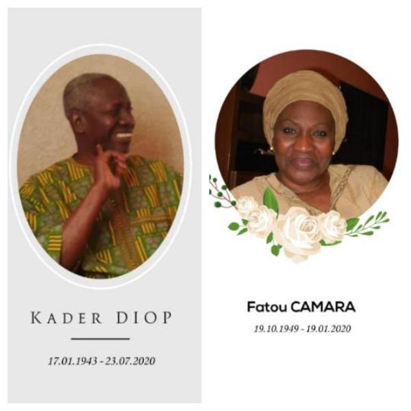 (Collage d'images publiées par la famille Diop.)